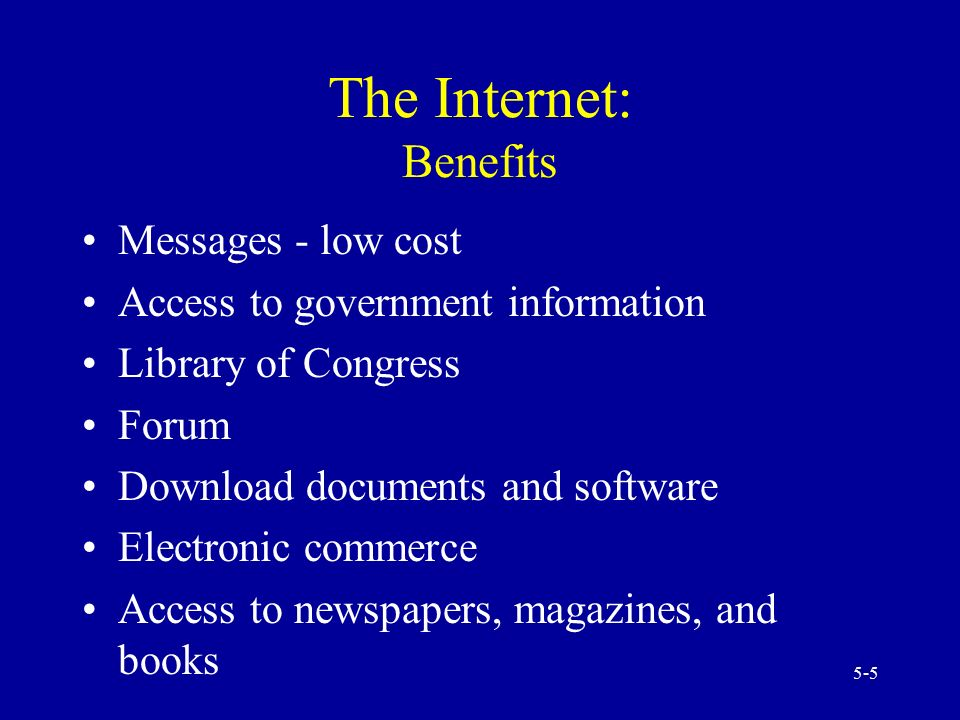 5 benefits of internet