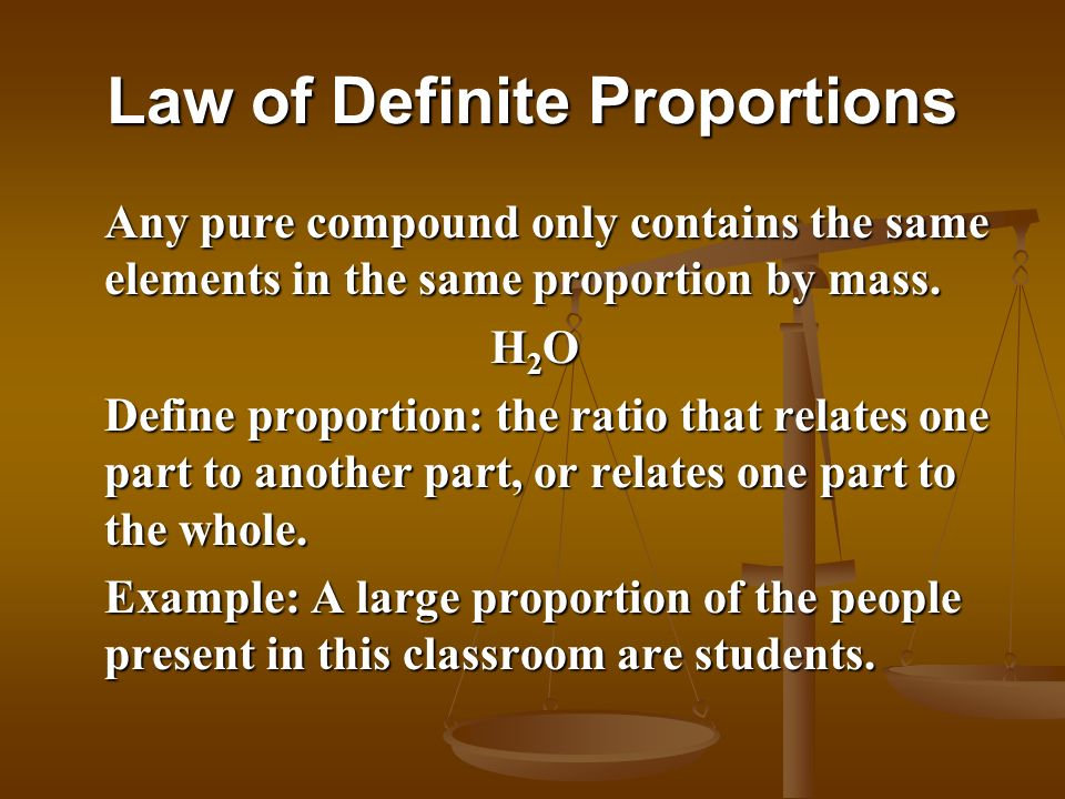 Law Of Conservation Of Mass Law Of Definite Proportions Ppt Video