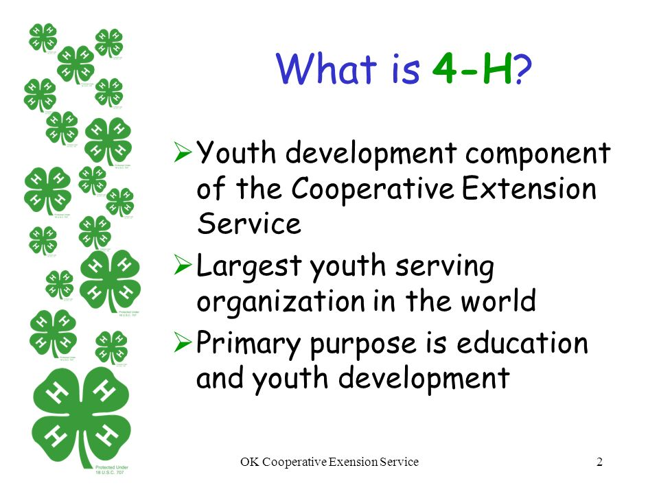 Oklahoma 4 H Youth Development New Parent Orientation Ppt Download