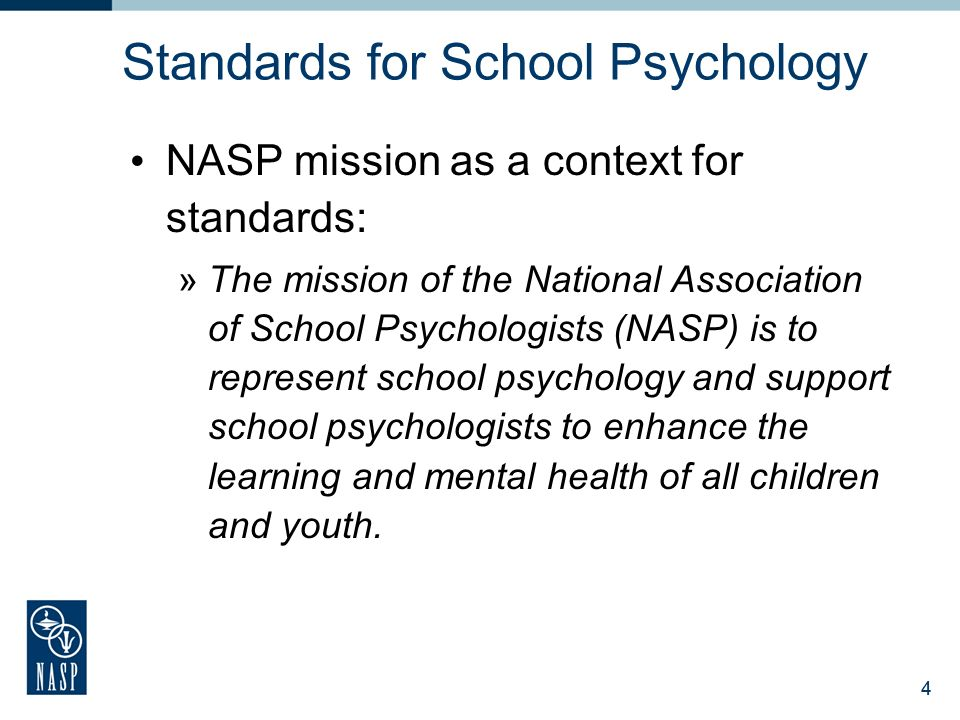 National association of school psychologists ppt download 4 standards for school psychology malvernweather Image collections
