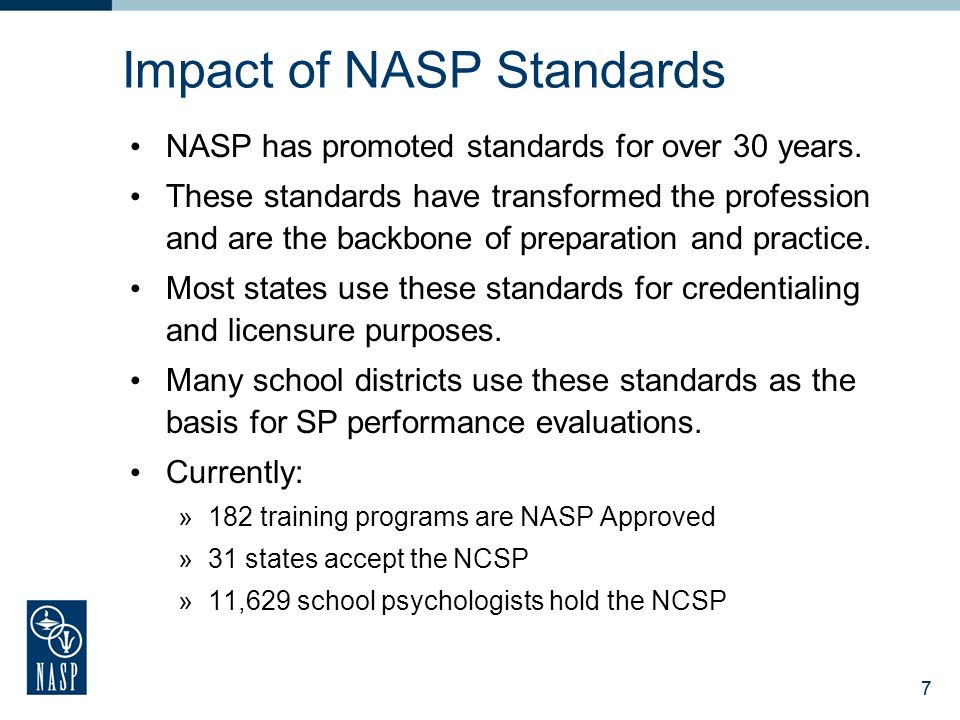 National association of school psychologists ppt download impact of nasp standards malvernweather Image collections