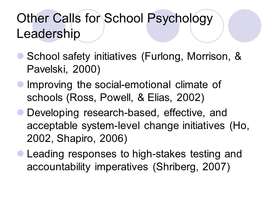 Other Calls for School Psychology Leadership