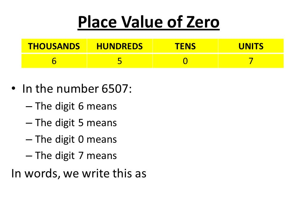 what has only two words but thousands of letters place value ppt 962