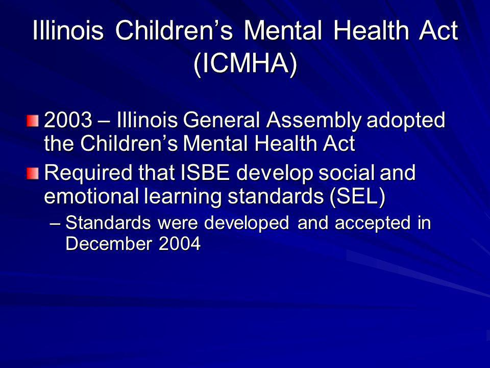Illinois Children's Mental Health Act (ICMHA)