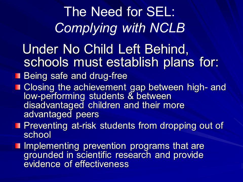 The Need for SEL: Complying with NCLB