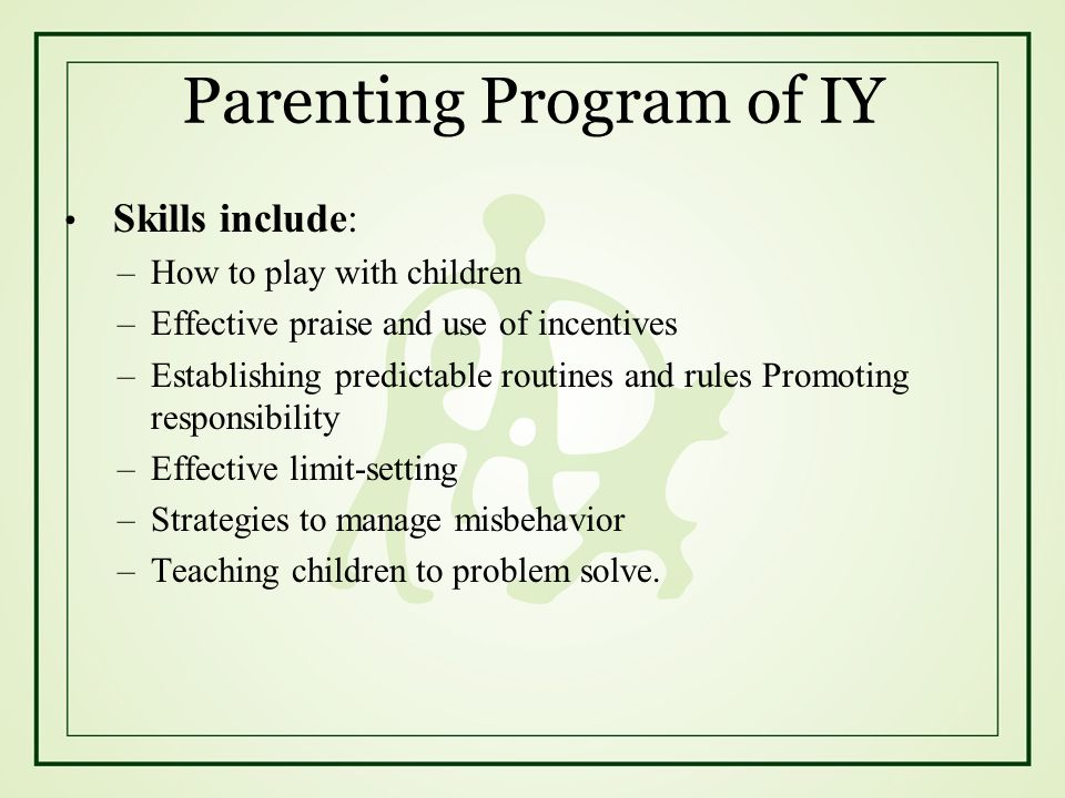 Parenting Program of IY