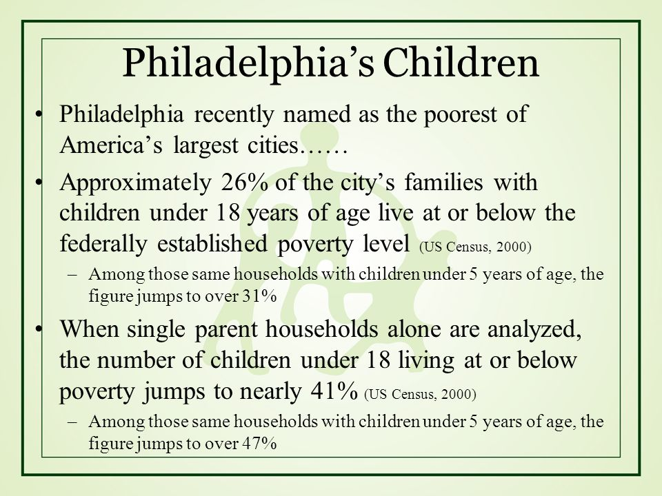 Philadelphia's Children