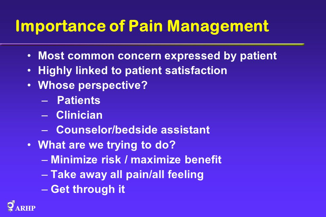 Importance of Pain Management