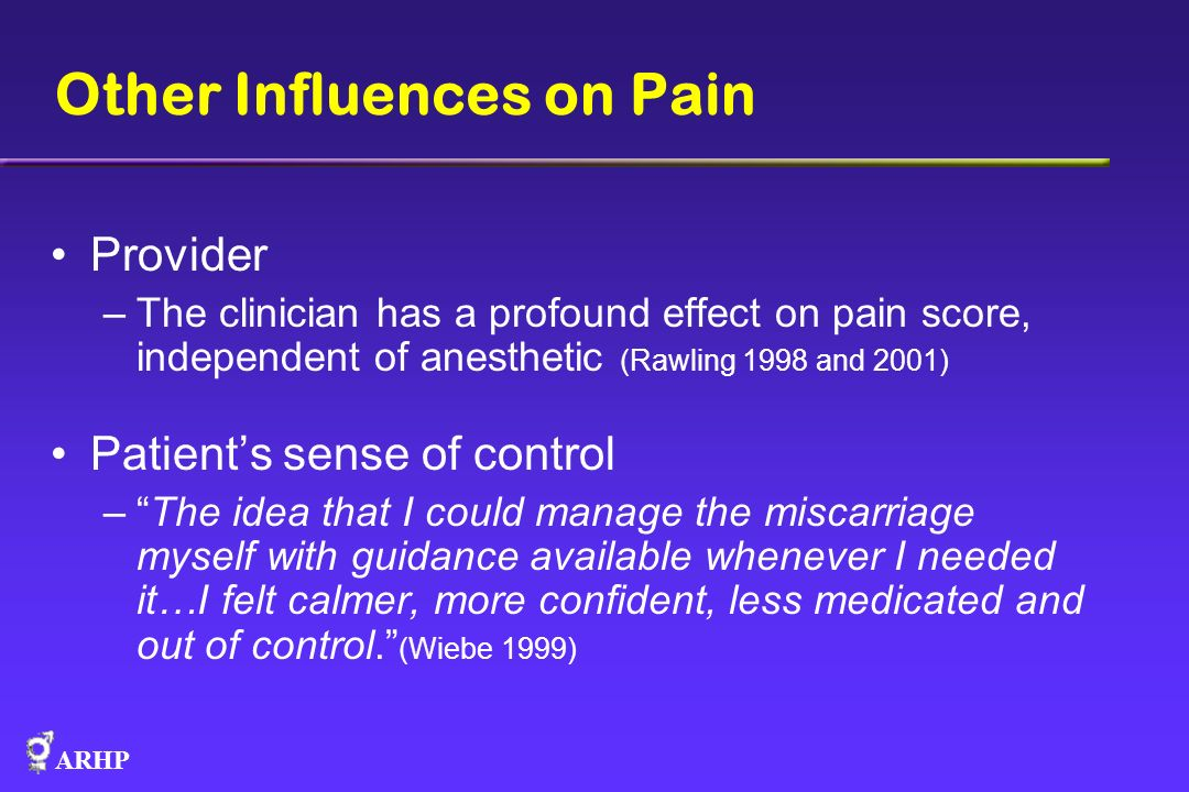 Other Influences on Pain