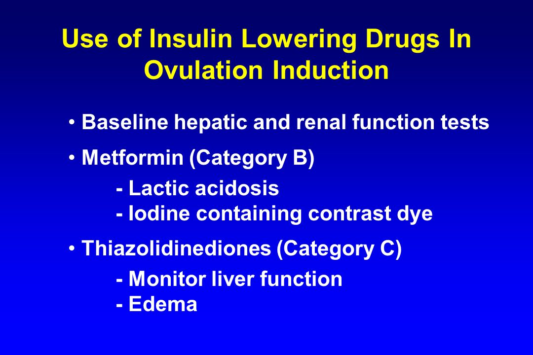 Use of Insulin Lowering Drugs In Ovulation Induction