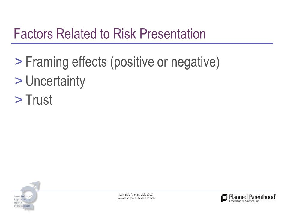 Factors Related to Risk Presentation