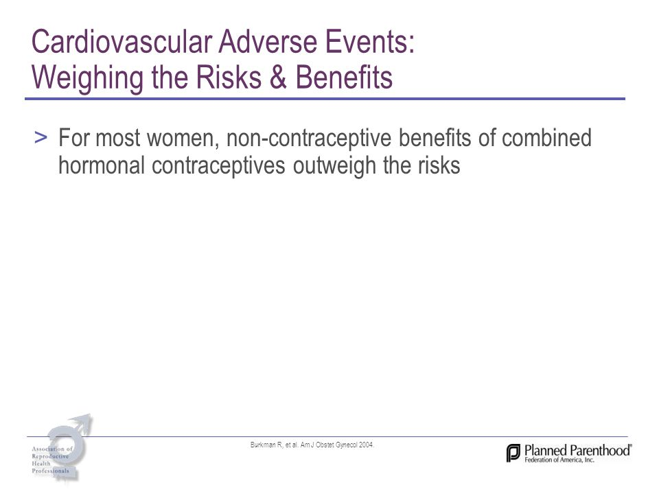Cardiovascular Adverse Events: Weighing the Risks & Benefits