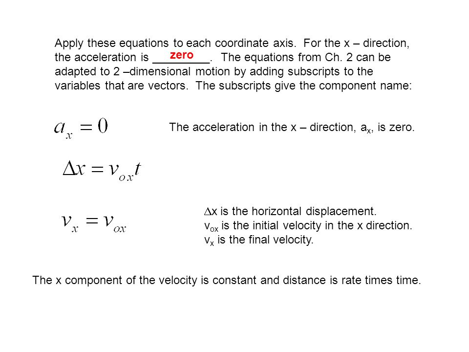 physics homework #12 two dimensional kinematics