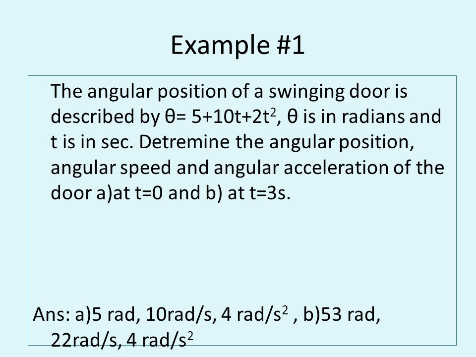 Angular Position, Velocity and Acceleration - ppt video