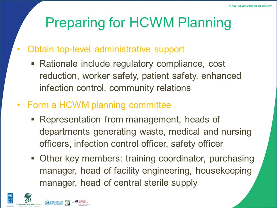 Module 5 Hcwm Planning In A Healthcare Facility Ppt Download