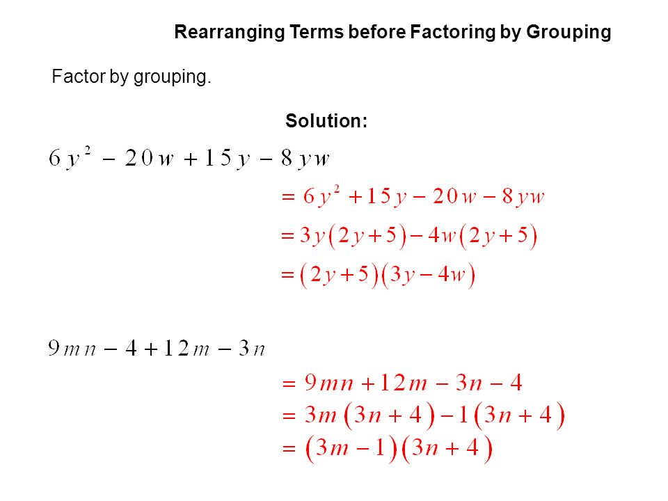 Factoring by grouping (article) | khan academy.