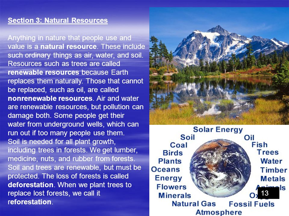 Section 3: Natural Resources