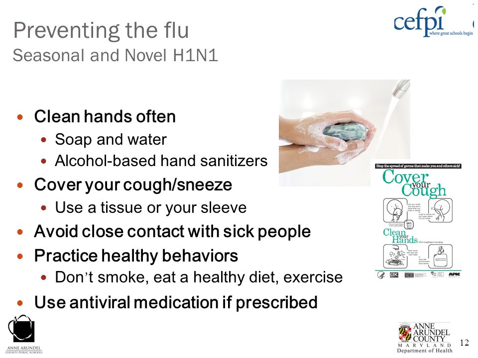 Preventing the flu Seasonal and Novel H1N1