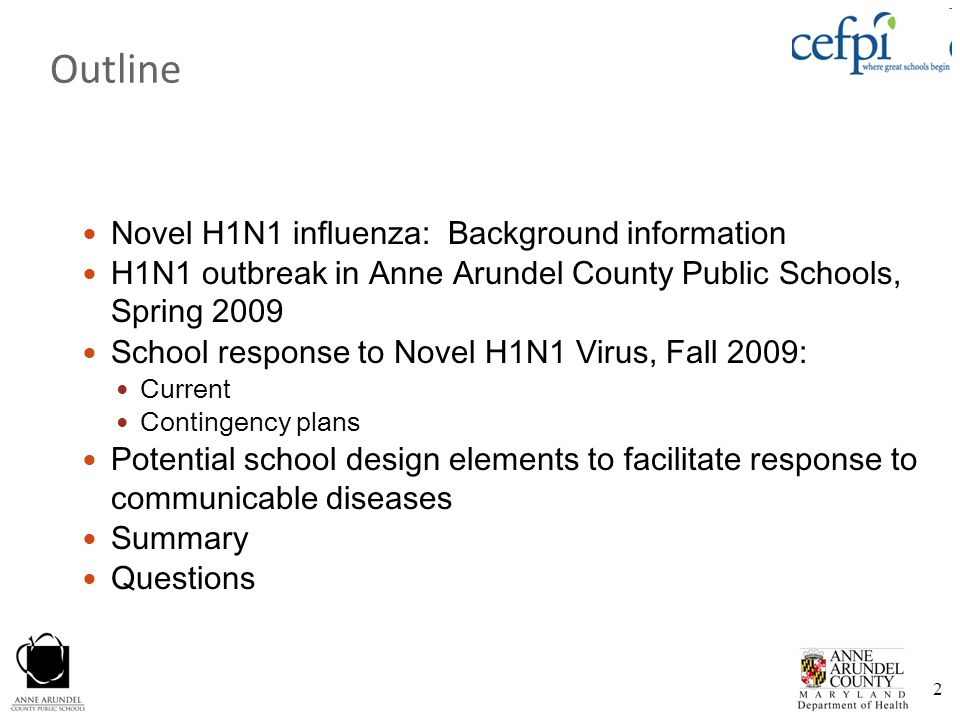 Outline Novel H1N1 influenza: Background information