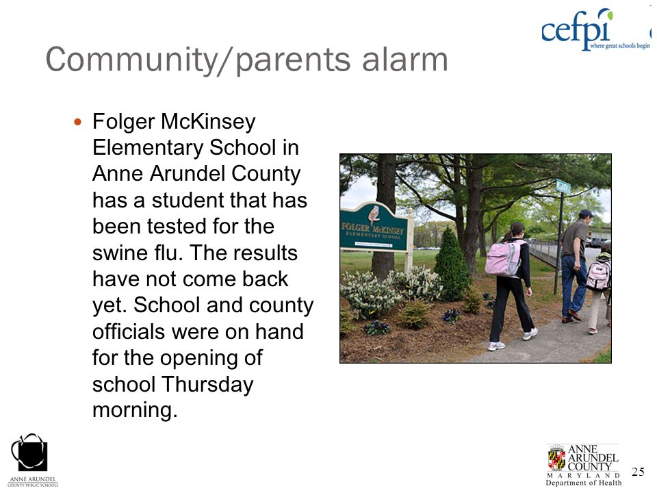 Community/parents alarm