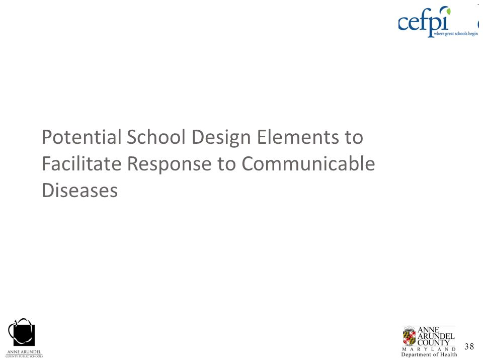 Potential School Design Elements to Facilitate Response to Communicable Diseases