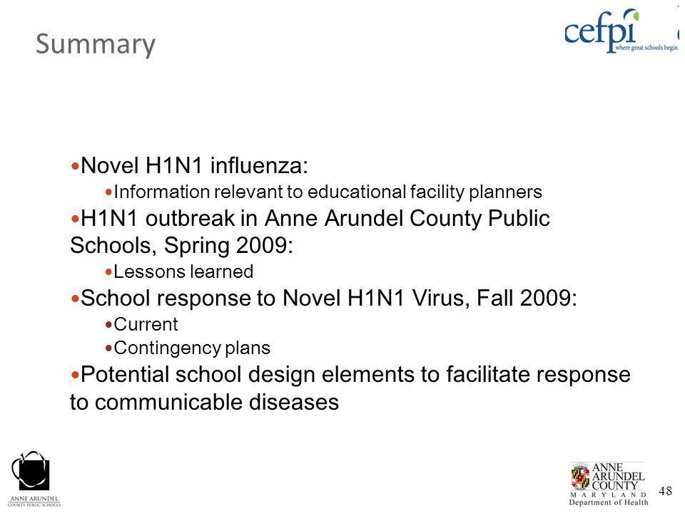 Summary Novel H1N1 influenza: