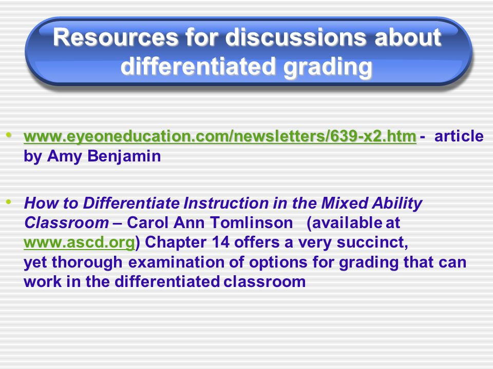 Differentiating Instruction In The Classroom Using Map Data Ppt