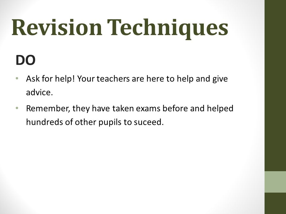 revision techniques for students