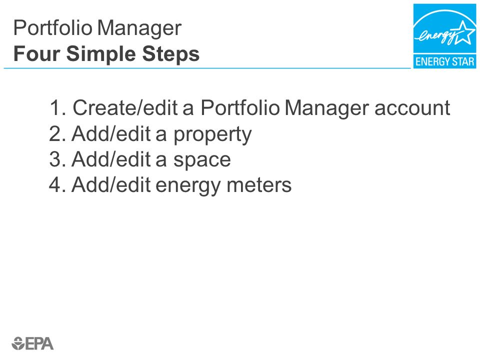 Portfolio Manager Four Simple Steps