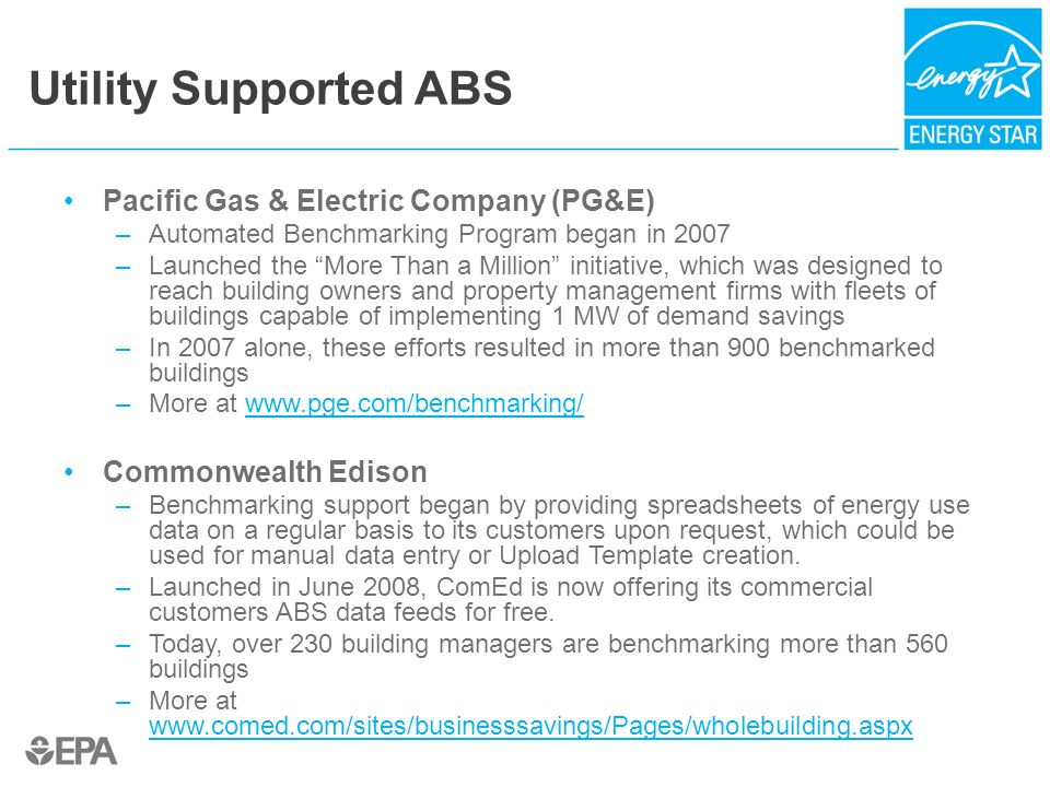 Utility Supported ABS Pacific Gas & Electric Company (PG&E)