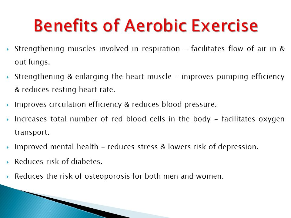 Aerobic Exercise Benefits for The Heart