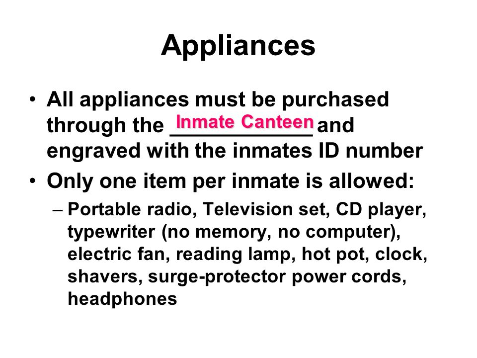 Inmate Personal Property - ppt video online download