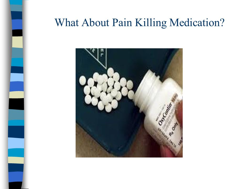 What About Pain Killing Medication