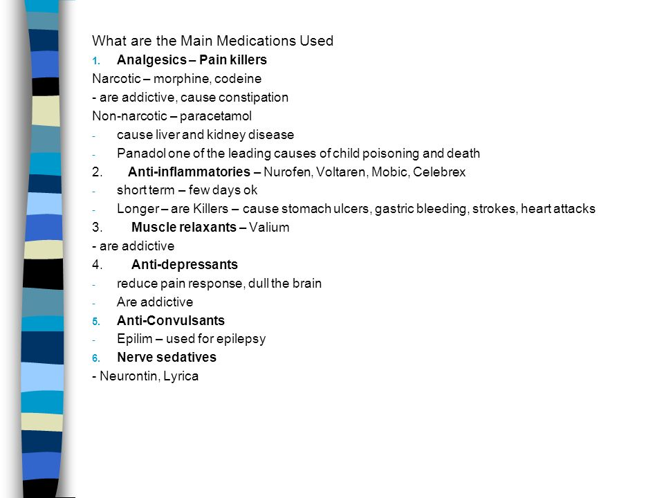 What are the Main Medications Used