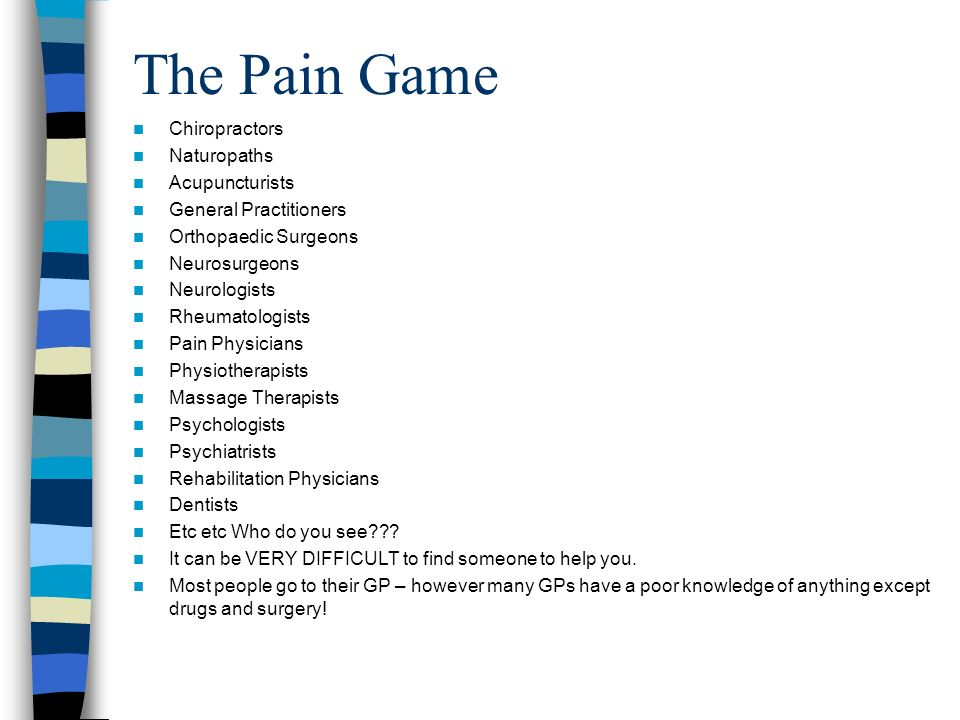 The Pain Game Chiropractors Naturopaths Acupuncturists