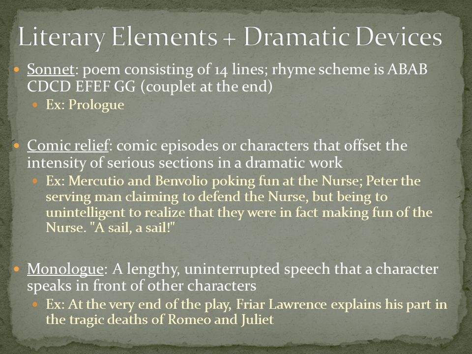 literary elements for essay Literary devices alliteration: the repetition of initial consonant sounds used especially in poetry to emphasize and link words as well as to create pleasing, musical sounds example—the fair breeze blew,  essay, that is part of a newspaper, magazine, or book atlas: a book of maps.