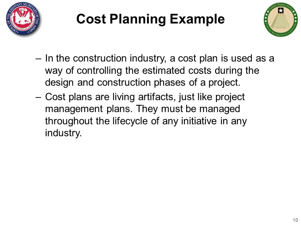 COST MANAGEMENT BASICS