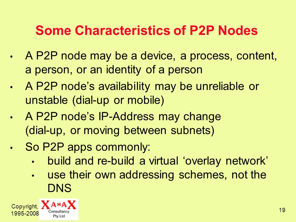 Some Characteristics of P2P Nodes