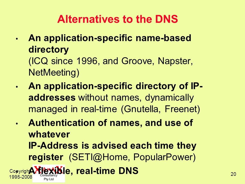 Alternatives to the DNS