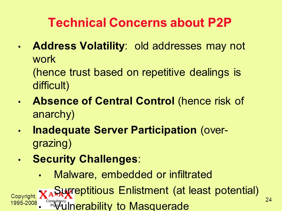 Technical Concerns about P2P