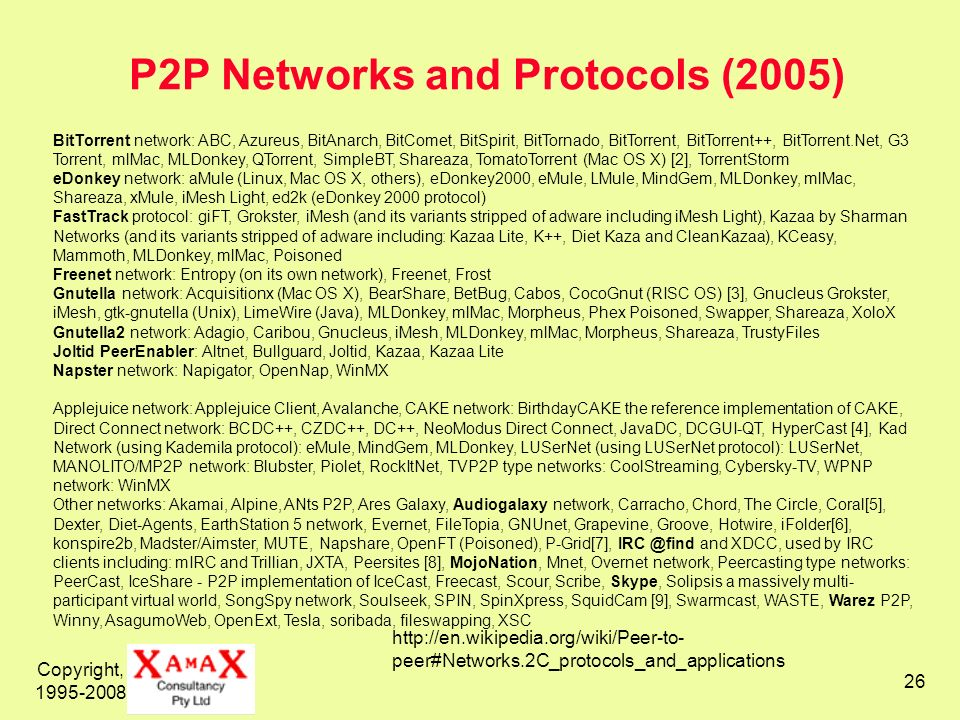 P2P Networks and Protocols (2005)