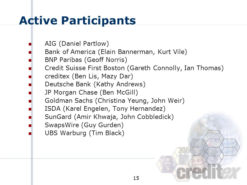 Active Participants AIG (Daniel Partlow)