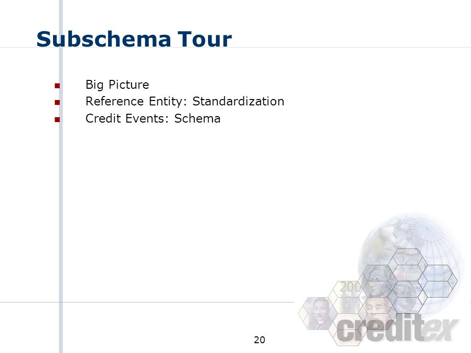 Subschema Tour Big Picture Reference Entity: Standardization