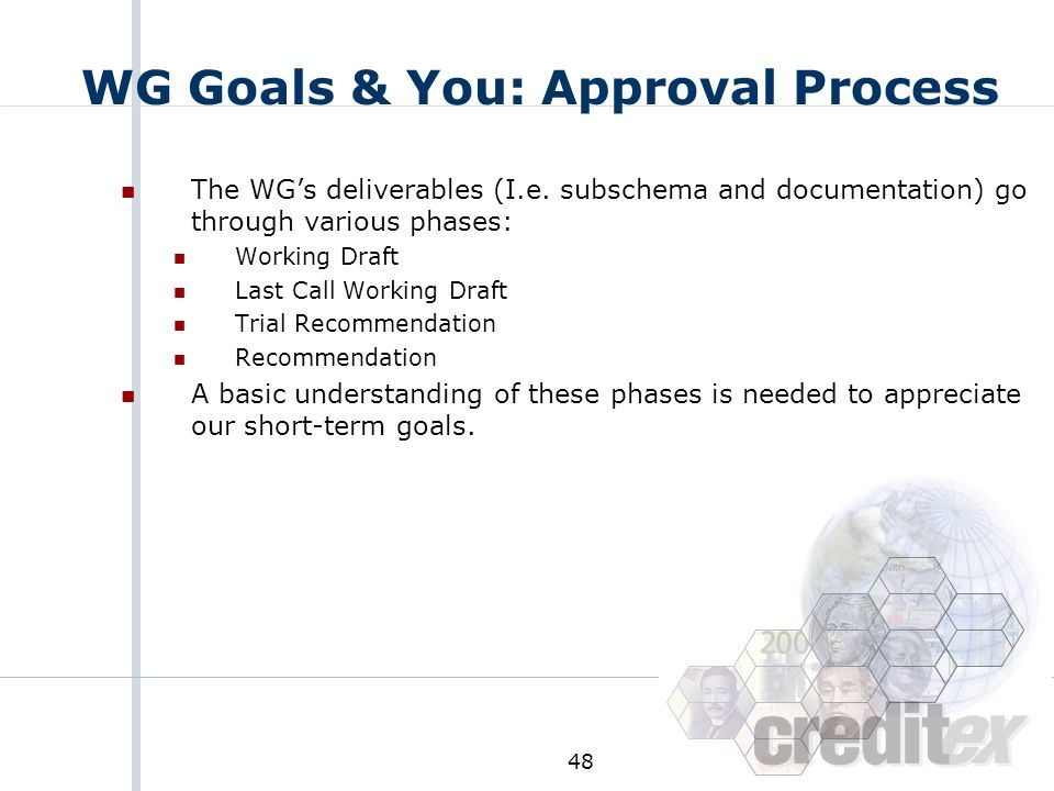 WG Goals & You: Approval Process