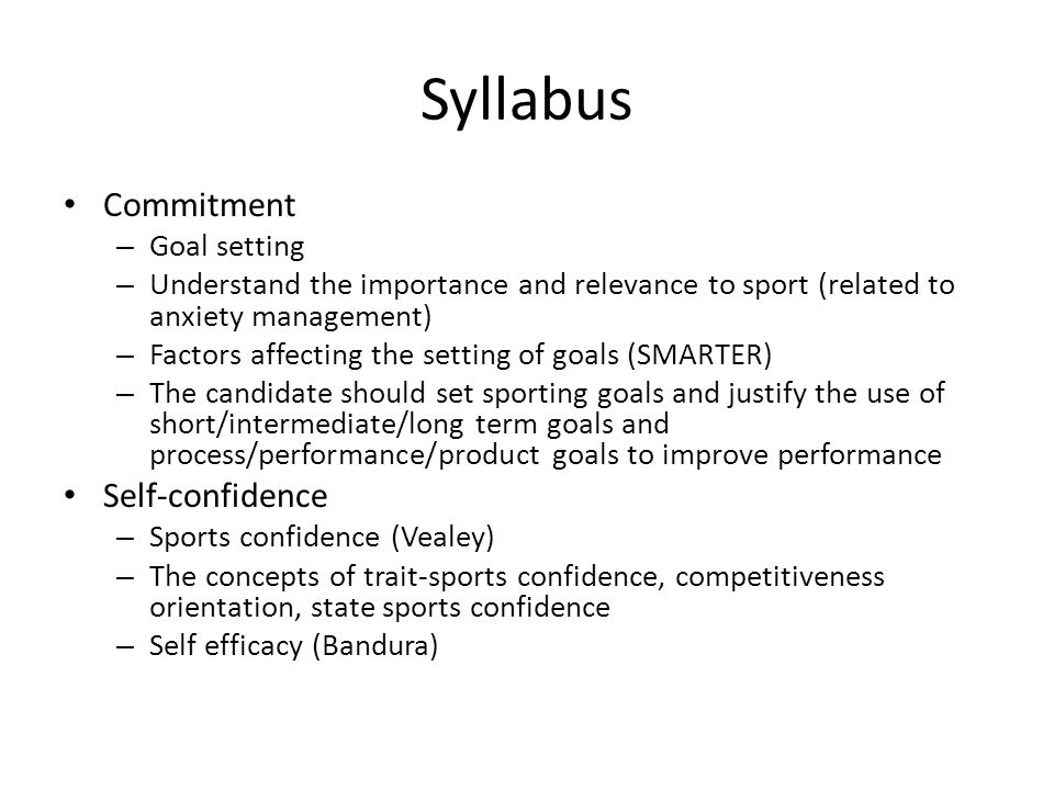 factors affecting performance in sport