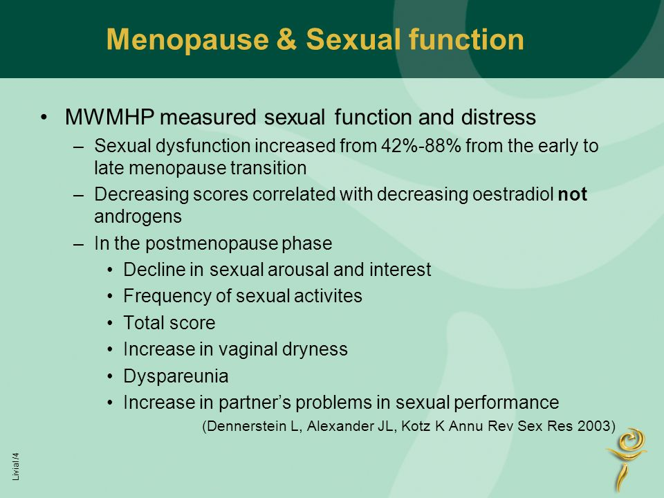 Post menopause sexual dysfunction