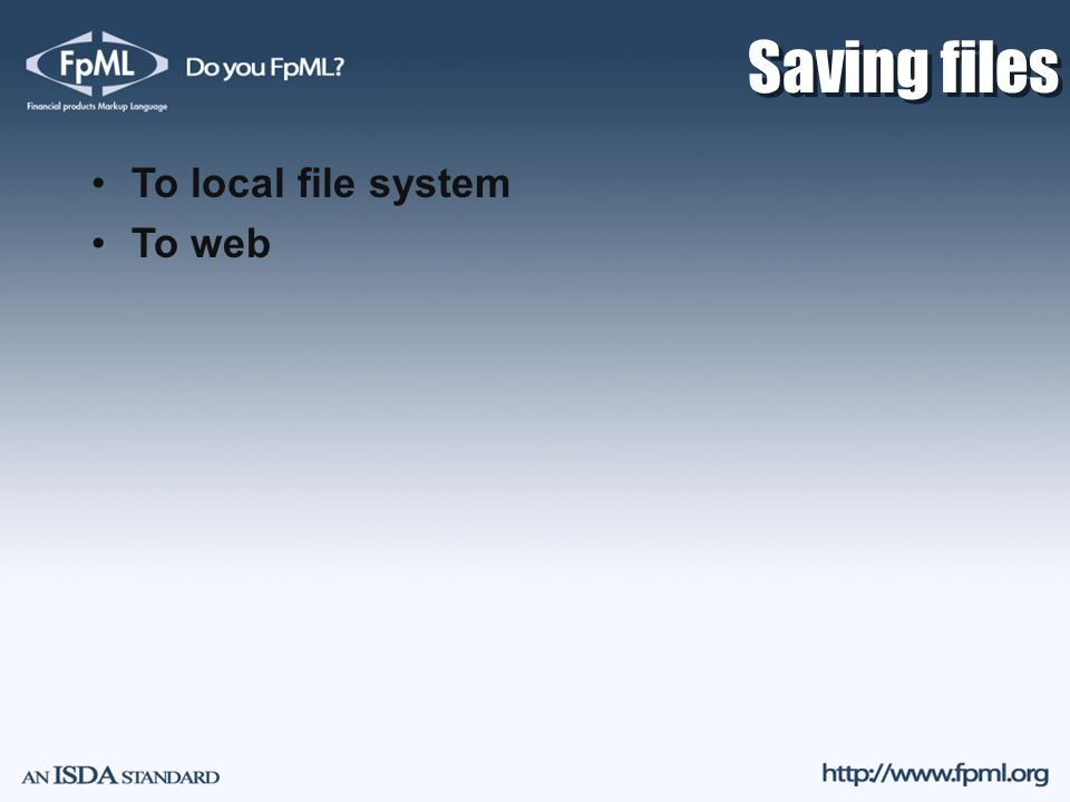 Saving files To local file system To web