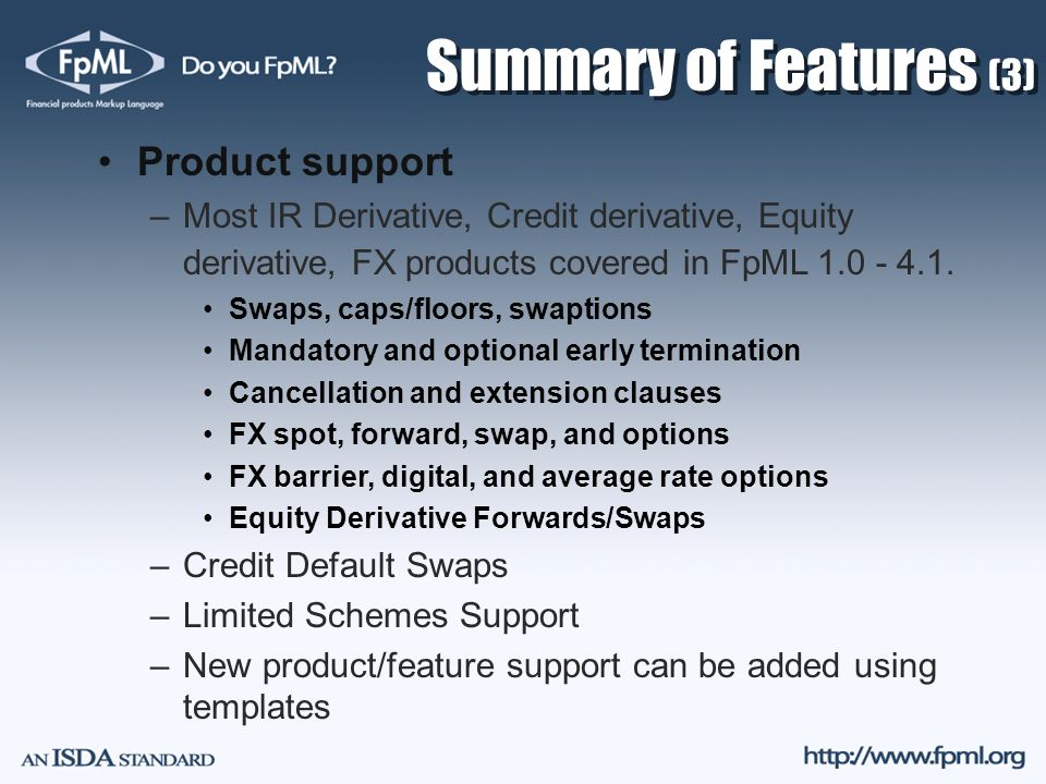 Summary of Features (3) Product support