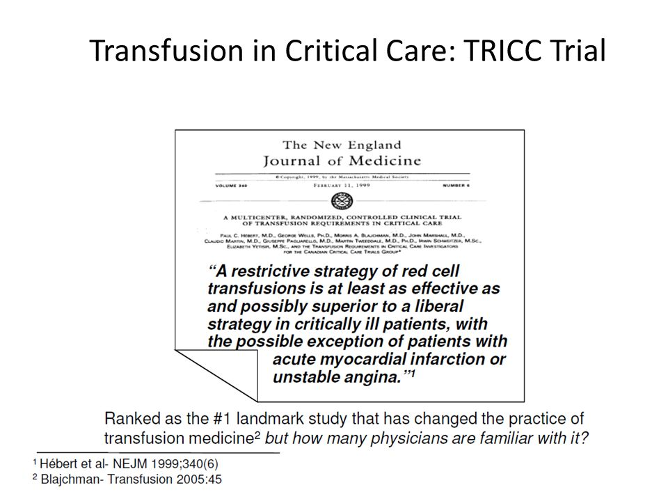 Why We Should Avoid Transfusions - ppt download