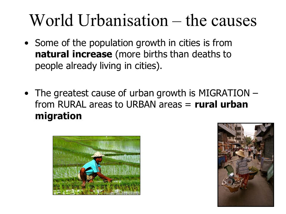 what are the main causes of urbanization